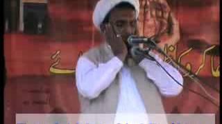Molana Manzoor Hussain Jawadi Shahadat Hazrat Abbas a.s(8 Mohram Bhowana 2011)