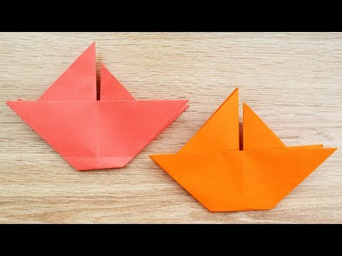 How to make an ORIGAMI SHIP out of paper Tutorial DIY