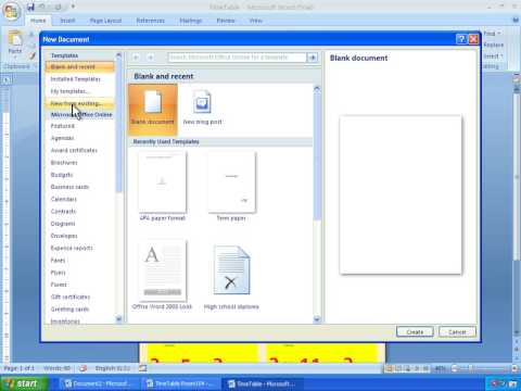 microsoft office word 2007 templates