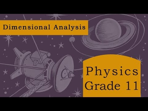 Physics Grade 11 | Dimensional Analysis | Principle of Homogeneity of Dimensions | Coverting Units