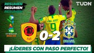 Resumen y Goles | Angola 0 - 2 Brasil | Mundial Brasil Sub-17 - G-A | TUDN