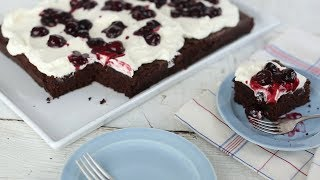 Dark Chocolate Cherry Cake - Everyday Food with Sarah Carey