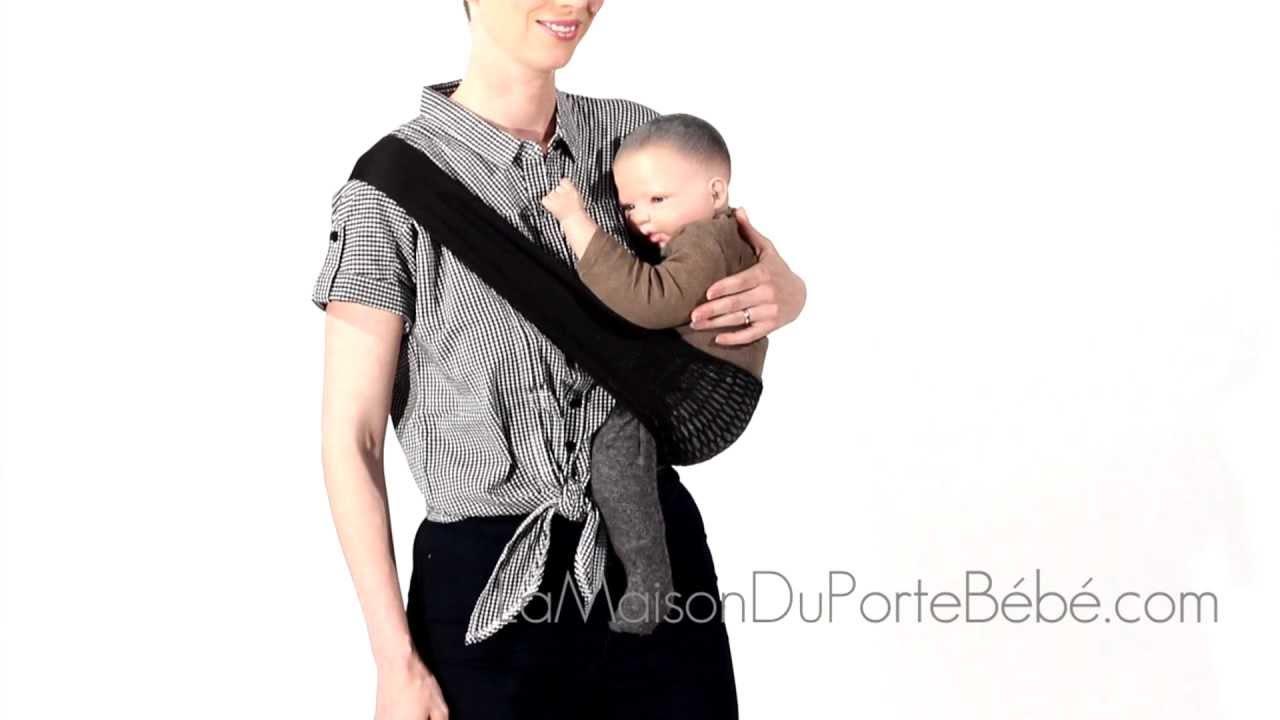 Tonga Noir Black Portebébé Sling Filet YouTube - Porte bébé sling