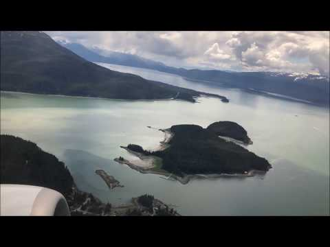 Juneau, Alaska Takeoff | Landing In Anchorage. Alaska Air 737-700