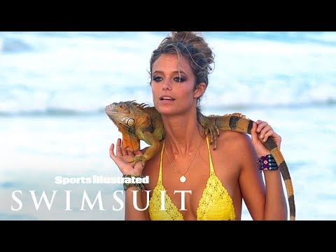Kate Bock Cozies Up To A Wild Friend In Mexico | Sports Illustrated Swimsuit