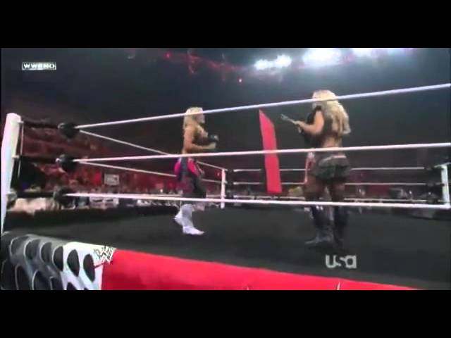 WWE Raw 11 07 11 Beth Phoenix, Natalya, Kelly Kelly, Eve & Alicia Fox In Ring Segment Travel Video