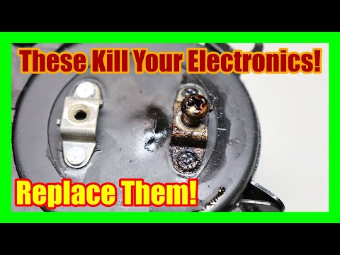 Replacing Old Electrolytic Capacitors In Electronic Equipment. Vintage Stereo Repair And Restoration