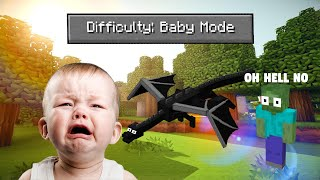 Beating Minecraft With 'Baby Mode' Difficulty' [speedrun]