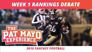 2018 Fantasy Football — Week 1 Rankings, Starts, Sits, Sleepers and Busts