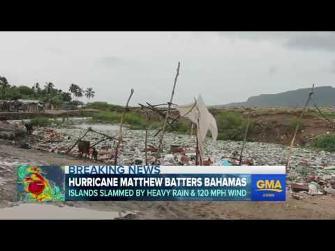 Hurricane Matthew Batters the Bahamas