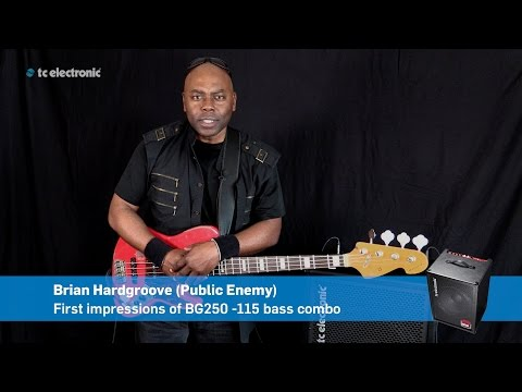Brian Hardgroove (Public Enemy) First impression on BG250-115 Bass Combo