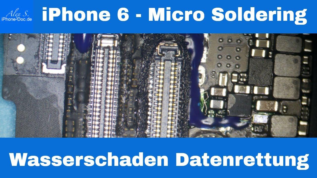 iphone 6 wasserschaden datenrettung micro soldering deutsch youtube. Black Bedroom Furniture Sets. Home Design Ideas