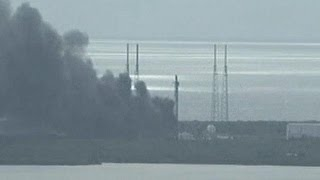 Cape Canaveral explosion destroys SpaceX rocket and Israeli satellite