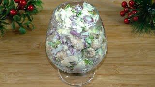 Придумала салат на ходу, из самых простых продуктов / Домашние рецепты салатов