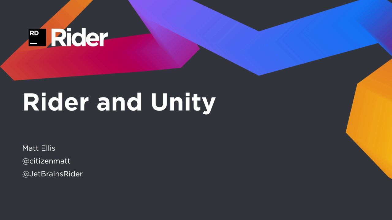 Getting Started with Rider and Unity -  NET Tools Blog NET