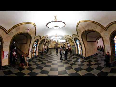 360 VR Tour | Moscow Metro | Novoslobodskaya station | Koltsevaya Line | VR Walk | No comments tour