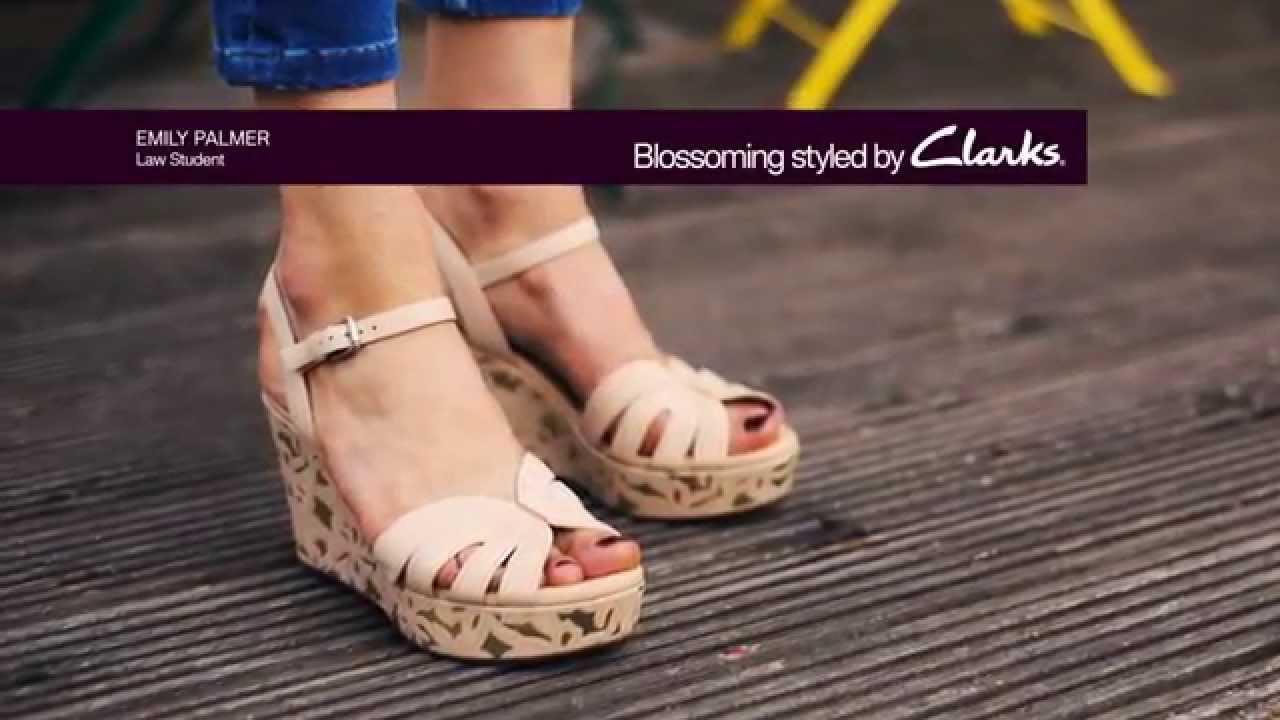 clarks womens wedges