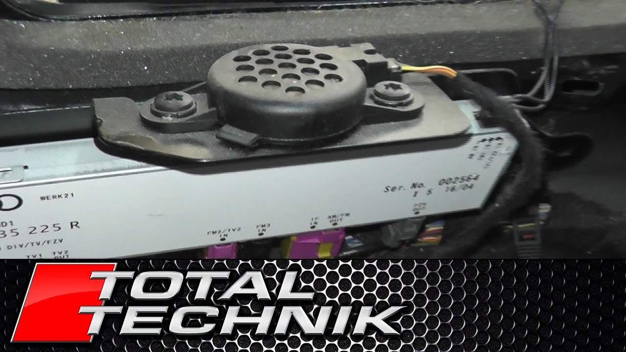 How To Remove Rear Parking Sensor Buzzer Avant Audi A4