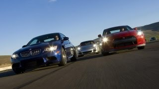 BMW M3 vs. Nissan GT-R vs. Porsche 911 Turbo - CAR and DRIVER