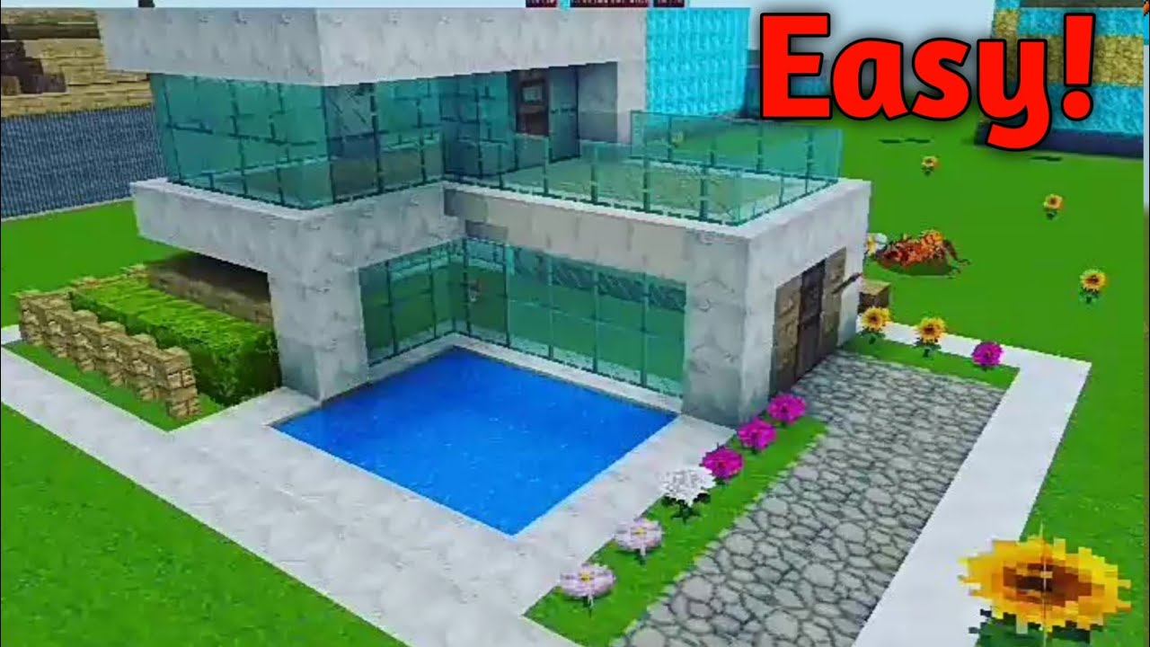 How to build a easy Modern house in Realmcraft|Realmcraft house tutorial #1