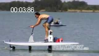 Waterbike Hydrofoil 100m Sprint in 14:11s