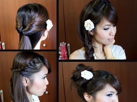 Easy Back-to-School Hairstyles for Long Medium Hair Tutorial - YouTube