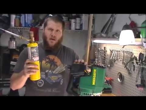 How to run your yard equipment on rubbing alcohol, WD 40 and MAPP gas