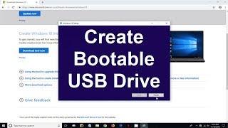 How to Download Windows 10 on USB!  ꟾ create Windows 10 USB bootable drive ꟾ Latest Version 2019