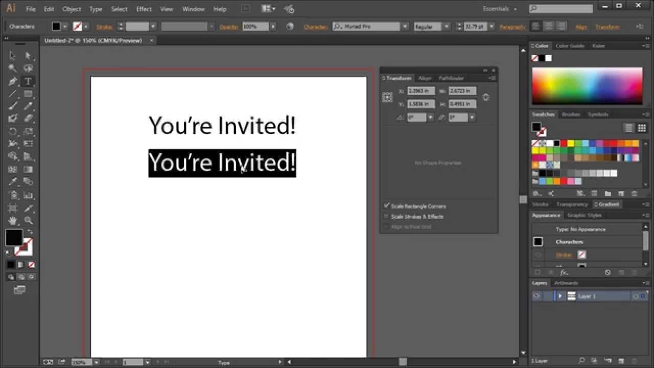 Invitation design in adobe illustrator key concepts youtube invitation design in adobe illustrator key concepts stopboris Images