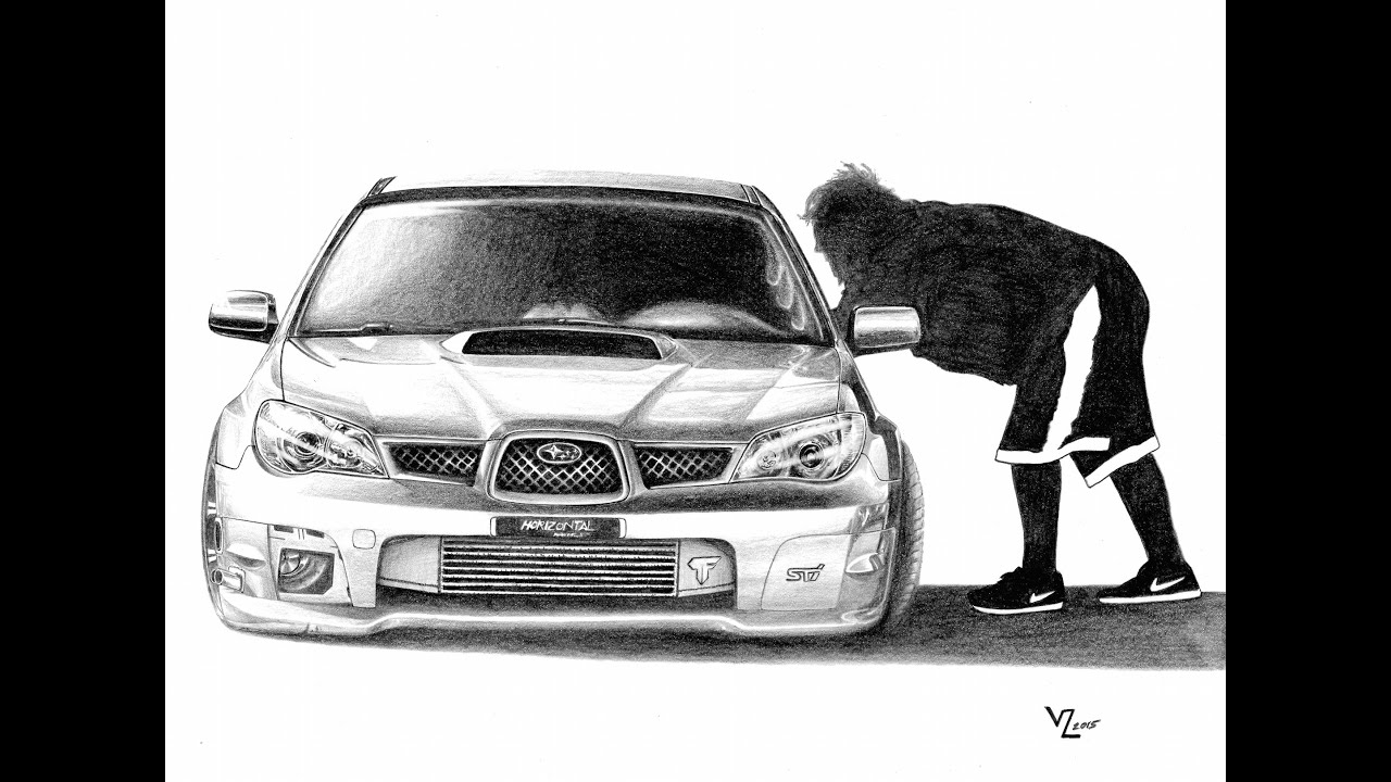 Stanced Car Drawing - 600 WHP Subaru STI by Vitalik (@Mr.Lickk ...