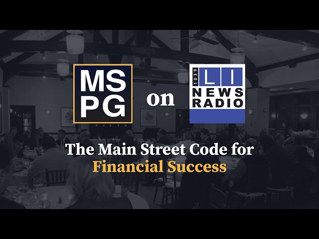 The Main Street Code for Financial Success - August 6th, 2021