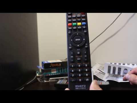 Как настроить универсальный пульт huayu к телевизору