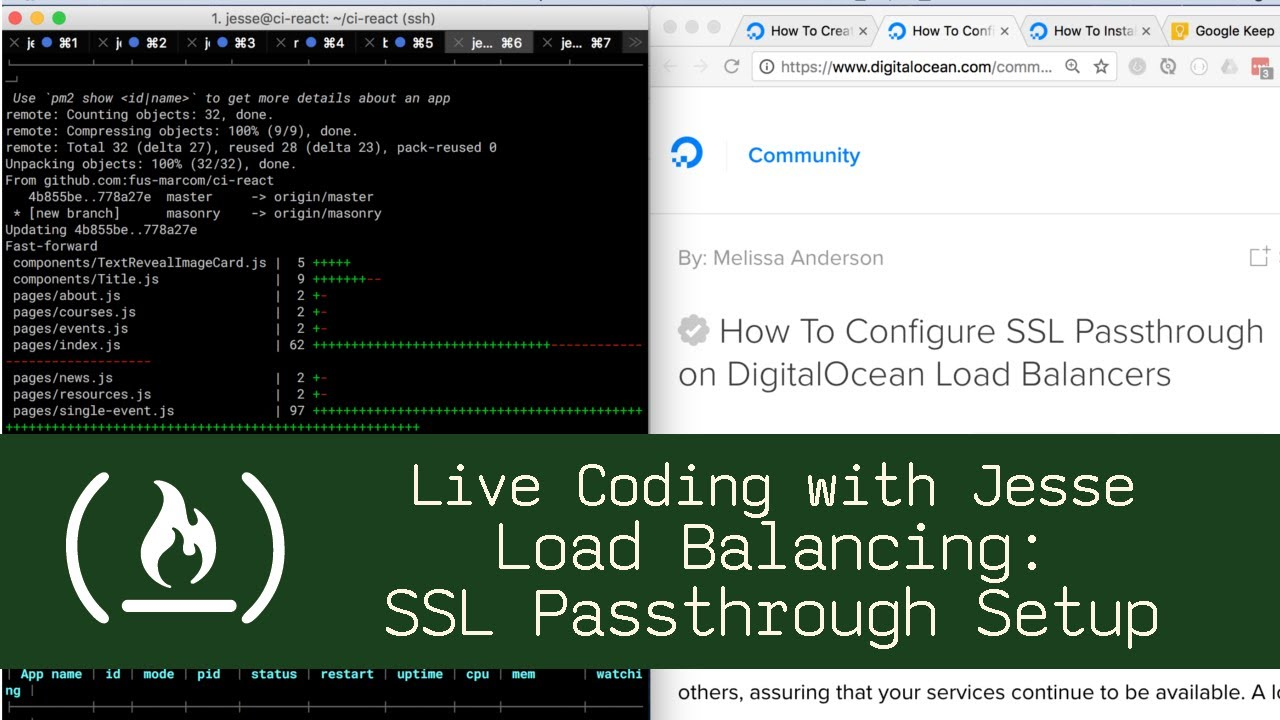 Load Balancing: SSL Passthrough Setup - Live Coding with Jesse