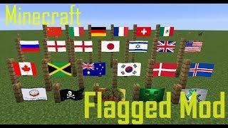 Флаги в майнкрафт обзор модов (Flagged mod)