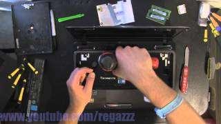TOSHIBA L645 L645D  take apart video, disassemble, how to open disassembly