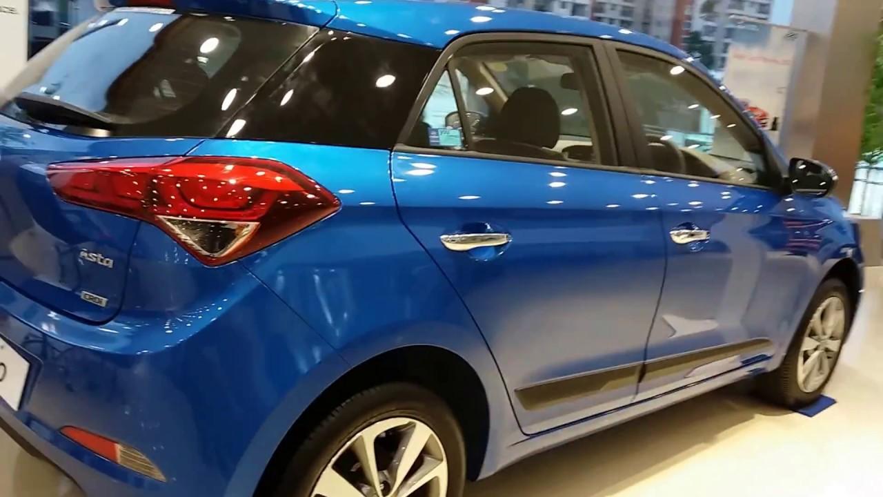 All New Hyundai I20 Marina Blue Top End Model Exterior