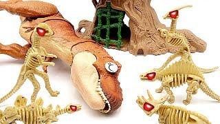 Dinosaur Zombies Episode. Jurassic World2 T-Rex Eat Dinosaurs~ Dino Survive skeleton for revenge