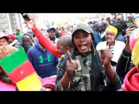 MANIFESTATION DE LA DIASPORA CAMEROUNAISE CONTRE LE REGIME BIYA A BRUXELLES