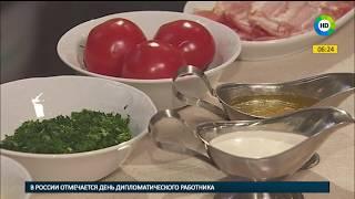 Омлет с беконом и томатами. Рубрика Пора завтракать.