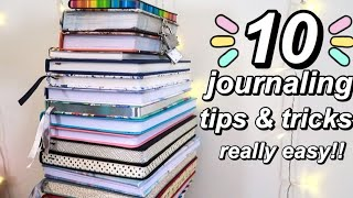 10 journaling tips and tricks (for beginners)  really easy!!