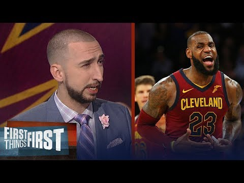 Nick Wright was thoroughly impressed with LeBron's 4th quarter vs the Knicks | FIRST THINGS FIRST