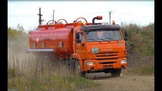Видео-обзор бензовоза-топливозаправщика АЦ-17 на шасси КАМАЗ 65115