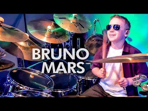 Uptown Funk - Bruno Mars (Drum Cover) - 9 year old Drummer - Avery Drummer Molek