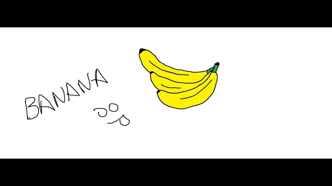 Easy Kids Drawing Lessons How To Draw Cartoon Banana Youtube