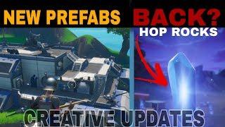 Hop Rocks are back  Fortnite Creative Update