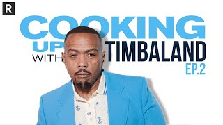 Gambar cover Timbaland & Idris Elba hit the studio & make music magic | Cooking Up w/ Timbaland