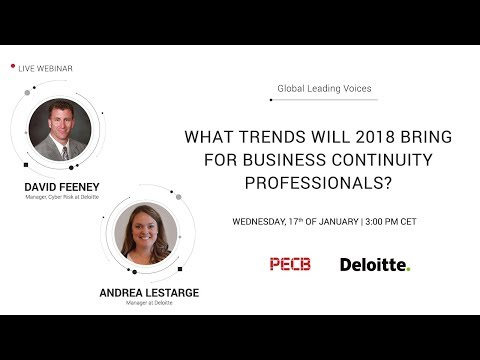 What trends will 2018 bring for Business Continuity Professionals?