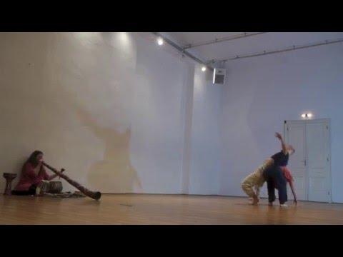 contact improvisation duet - Tamas Baku/ Sabine Parzer/ Karin Bindu 2015