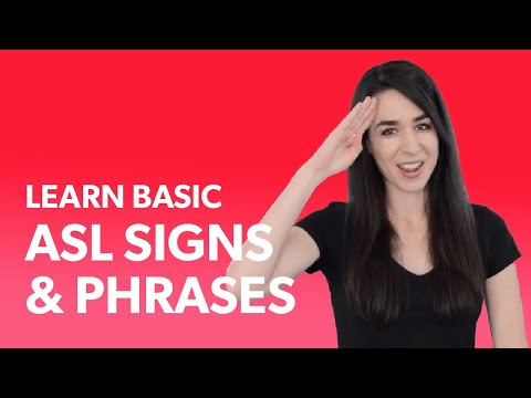 25 Basic ASL Signs For Beginners | Learn ASL American Sign Language