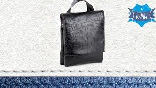 Видео обзор мужской черной сумки-планшет Bred кайман
